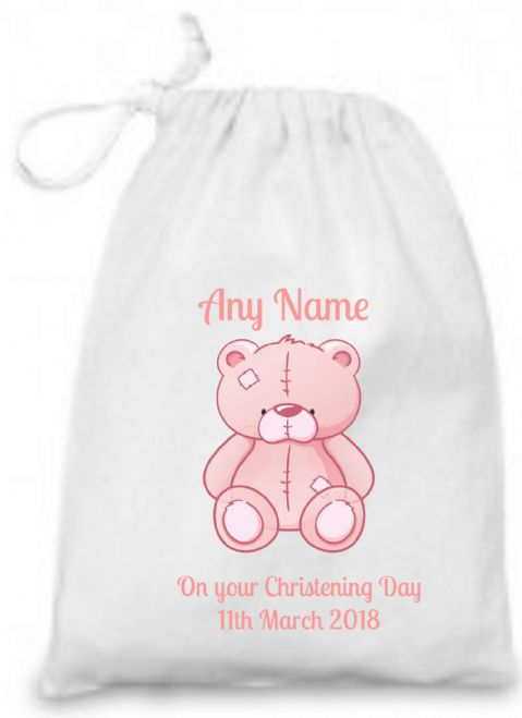 Christening Gift (Pink Teddy) Bag